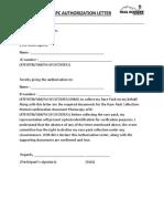 Authorization Letter CTCU19