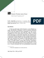 Sancta Trinitas unus Deus - Card. Luis F. Ladaria, S.I