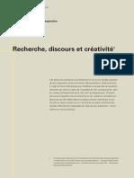Recherche, discours et créativité