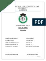 Law of Torts Final Draft - MENAKA.docx