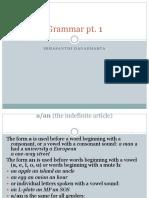 Grammar Pt 1