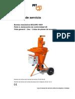Manual de Servicio PFT Bolero