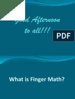 Finger Math Presentation