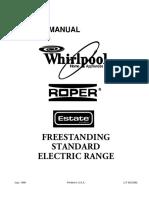 4321892 Whirlpool Roper Estate Freestanding Standard Electric Range