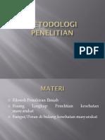 Sesi 1 Metodologi Penelitian