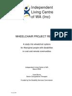 Wheelchair Report 16 June 2006