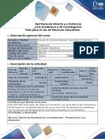 Guía Para El Uso de Recursos Educativos - Nutrición y Toxicología Alimentaria (Tutorial)
