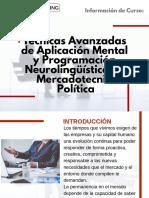 Curso de Técnicas Avanzadas de Aplicación Mental y Programación Neurolingüística en Mercadotecnia Política