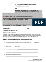 Threat Assessment- Level 1 Student Interview (Fillable)