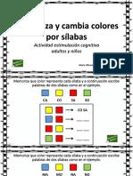 Cambiar Colores Por Silabas