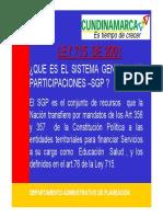 Ley 715 de 01 Sistema General de Particiones