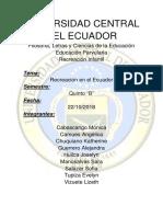 Teorico Recreacion En Ecuador.docx