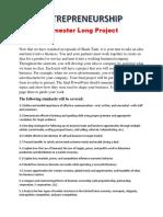 Semester Long Project