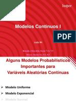 Modelos de variáveis continuas