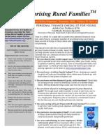 Personal Finance Checklist
