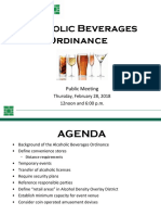 2.28.19 Proposed Alcohol Ordinance Changes Presentation