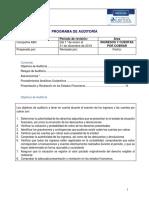 Programa de AuditorÝa Para Ingresos y Cunetas Por Cobrar