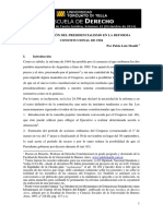 Atenuacion del Hiper-presidencialismo con la reforma constitucional