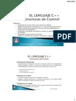 C04 - Lenguaje C++ - Estructuras de Control