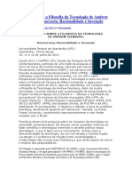 Colóquio sobre a Filosofia da Tecnologia de Andrew Feenberg - 2013.docx