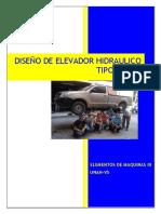 Informe Elementos de Maquinas III (Elevador de Tijeras)