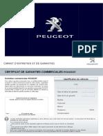 Carnet Entretien Peugeot 2016