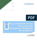 Management du suivi et de l'évaluation des programmes et projets de développement (Octobre 1999)