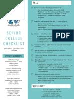 senior college checklist