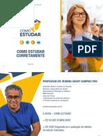 Como Estudar Corretamente - Prof. Rubens Sampaio - Ebook 1 DE 10