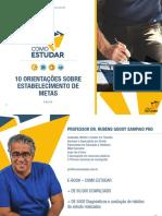 COMO ESTUDAR - ORGANIZAÇÃO DAS METAS - PROF. RUBENS SAMPAIO - E-BOOK 3 DE 10