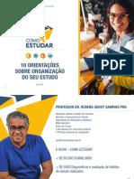 COMO ESTUDAR - ORGANIZAÇÃO DOS SEUS ESTUDOS - PROF. RUBENS SAMPAIO PHD - EBOOK 4 DE 10