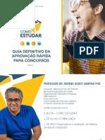 COMO ESTUDAR - PROF. RUBENS SAMPAIO - Guia Definitivo Da Aprovacao Rapida Em Concursos Publicos