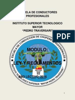 2016 Modulo De Leyes Martha Pdf Licencia De Conducir