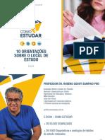 COMO ESTUDAR - PROF. RUBENS SAMPAIO PHD - COMO ORGANIZAR SEU LOCAL DE ESTUDO