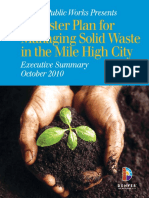 Denver Public Works Solid Waste Master Plan Executive Summary