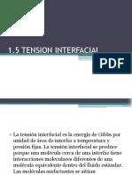 tension interfacial
