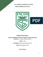 LISTADO DE EMPRESAS PÚBLICAS, PRIVADAS Y MIXTAS EN BOLIVIA.docx