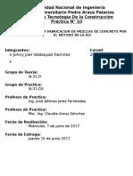 Informe Práctica 10 - Diseño de Mezclas de Concreto MCON.docx