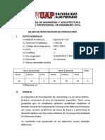 Investigacion de Operaciones - Silabu