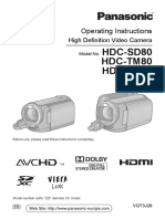 camcorder - panasonic hdc-sd80 - full manual.pdf