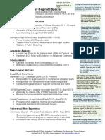 Model Curriculum Vitae and Resume for Law Student Graduates