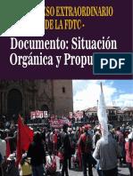 DOCUMENTO DE BALANCE Y PROPUESTA DE LA SITUACIÓN ORGÁNICA DE LA FDTC