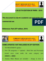Park 25th Edition Updates