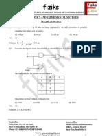 Electronics and Experimental Methods NET-JRF June 2011-Dec 2014