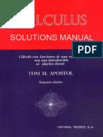 Solucionario Parcial Cálculo 1 y 2 - Tom Mike Apostol