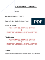 Synopsis on Performace Appraisal System