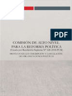 Inscripción y cancelación de organizaciones políticas