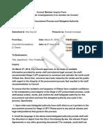 Diane Deans inquiry - Stage 2 LRT Procurement Process March 27, 2019