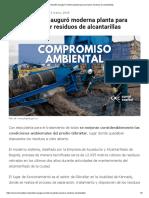 Alcaldía Inauguró Moderna Planta Para Procesar Residuos de Alcantarillas