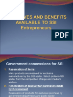 Incentives and Benefits Available to Ssi Entrepreneurs 1